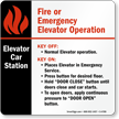 6in. X 6in. Elevator Car Station Safety Sign