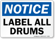 Notice: Label All Drums