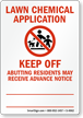 Lawn Chemical Application, Keep Off Sign