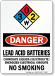 Lead Acid Batteries Corrosive Liquids OSHA Danger Sign