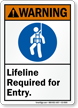 ANSI Warning Confined Space Sign