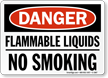 OSHA Danger Flammable Liquids No Smoking Sign