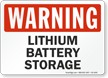 Lithium Battery Storage Warning Sign