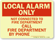 Glow-In-The-Dark Fire Alarm Sign