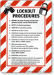 Lockout Procedures Sign (with graphic)