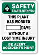 Safety Starts With You. Sign