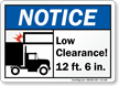 Low Clearance Notice Sign
