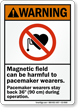 Magnetic Field Harmful To Pacemaker Wearers Warning Sign