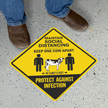 Maintain Social Distancing, Keep One Cow Apart with Clipart
