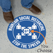 Maintain Social Distancing SlipSafe Floor Sign