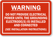 Manufactured Home Service Equipment Warning Label