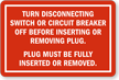 Manufactured Home Service Equipment Warning Sign