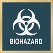 Marquis Biohazard Sign, 6in. x 6in.