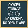 Marquis Oxygen Storage Sign, 6in. x 6in.