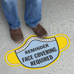 Mask Shaped - Reminder - Face Covering Required