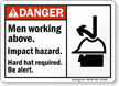 Men Working Above Impact Hazard Hard Hat Sign
