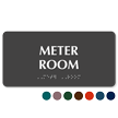 Meter Room TactileTouch Braille Sign