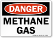 Methane Gas OSHA Danger Sign