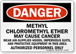Methyl Chloromethyl Ether May Cause Cancer Danger Sign