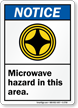 Microwave Hazard In This Area (graphic) Sign
