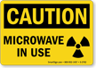 Caution: Microwave In Use (with graphic)
