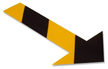 Floor Marking Arrow With Chevrons