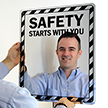 Mirror Safety Message Sign onmouseover =