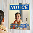 Notice: Avoid Contamination Wash Your Hands Sign