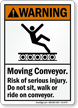 Moving Conveyor Risk Of Serious Injury Sign