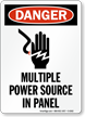 Multiple Power Source In Panel Osha Danger Sign