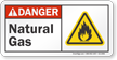 Natural Gas ANSI Danger Sign