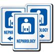 Nephrology Hospital Sign with Kidney Symbol