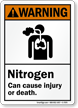 Nitrogen Can Cause Injury Or Death Warning Sign