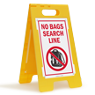 No Bags Search Line FloorBoss Sign