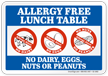 Peanut Allergy Safety Sign
