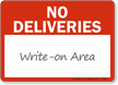 No Deliveries with Blank Space