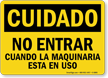 OSHA Cuidado Spanish Sign
