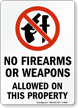 No Weapons Sign