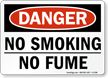 No Smoking No Fume Sign