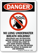 Danger Pool Sign