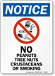 OSHA Notice Peanut Allergy Sign