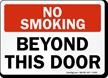 No Smoking Beyond This Door Sign