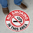 No Smoking in this Area SlipSafe Floor Sign