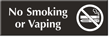 No Smoking Or Vaping Sign with Graphic