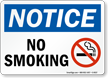 Notice: No Smoking (with symbol)