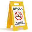 Oxygen No Smoking Standing Floor Sign