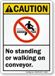 ANSI Caution Conveyor Sign