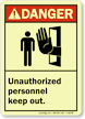 Danger (ANSI): Unauthorized Personnel Keep Out Sign