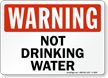 Warning: Not Drinking Water
