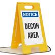 Notice Decon Area Floor Sign
